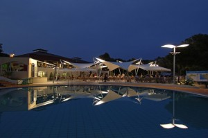 Camp Amarin evening by the pool